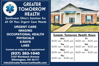 Southwest Ohio's Solution For All Your Urgent Care Needs