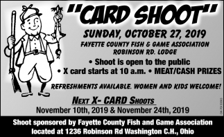 Card Shoot - October 27