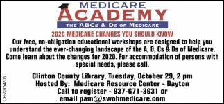 2020 Medicare Changes You Should Know