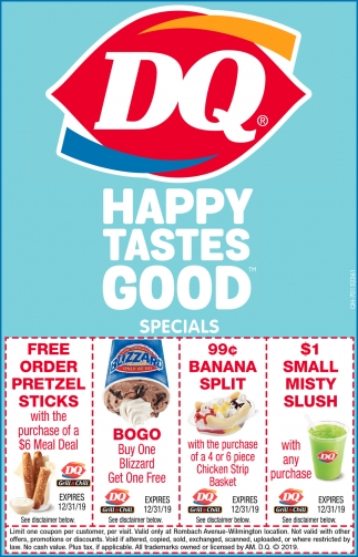 Happy Tastes Good Specials