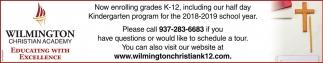 Now enrolling grades K-12