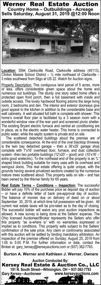 Werner Real Estate Auction