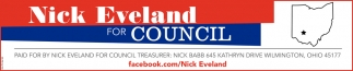 Nick Eveland for Council Treasurer