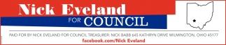 Nick Eveland for Council Treasurer