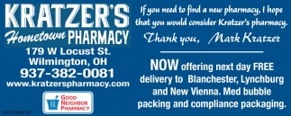 Now offering next day delivery to Lynchburg and New Viena