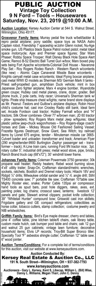 Public Auction - Nov. 23