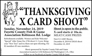 Thanksgiving X Card Shoot - November 24