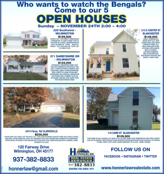Open Houses - November 24th