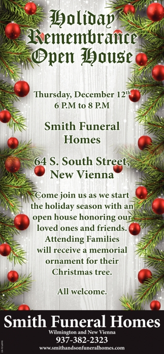 Holiday Remembrance - Open House