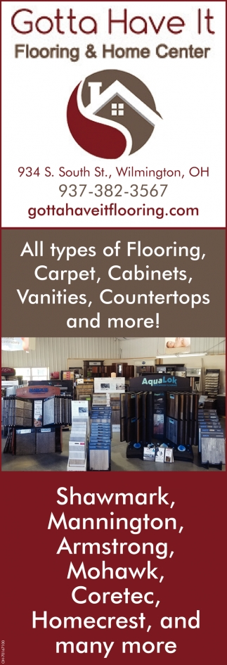 All types of Flooring, Carpet, Cabinets, Vanities, Countertops and more!
