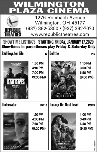 Showtime Listings - Starting January 17