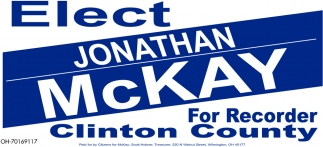 Elect Jonathan McKay For Recorder Clinton County