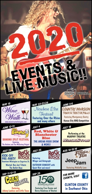 2020 Events & Live Music