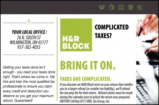 Taxes are Complicated
