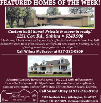 Featured homes of the week