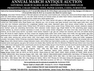 Annual March Antique Auction