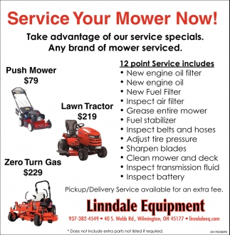 Service your mower now!