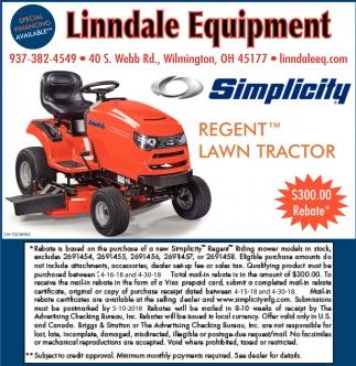 Simplicity Regent Lawn Tractor