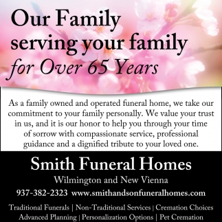 Our Family serving your family for over 65 years