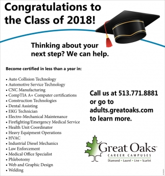 Congratulations to the Class of 2018!