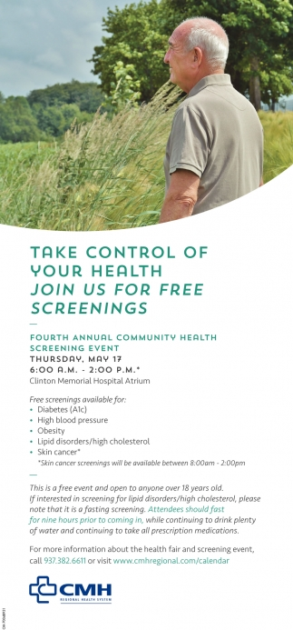 Fourth Annual Community Health Screening Event