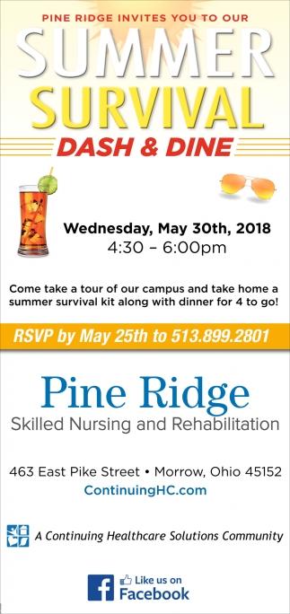 Summer Survival Dash & Dine
