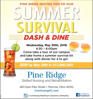 Summer Survival Dash & Dine
