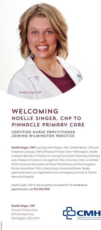 Noelle Singer, CNP to Pinnacle Primary Care