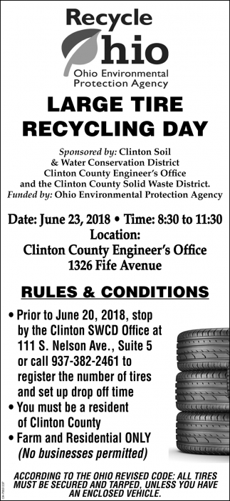 Large Tire Recycling Day