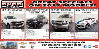 Great Specials on 2017 Models