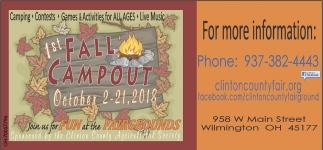 1st Fall Campout