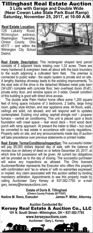 Tillinghast Real Estate Auction