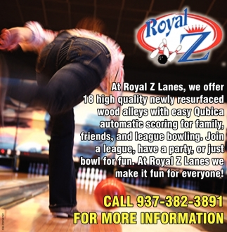 At Royal Z Lanes we make it fun for everyone!