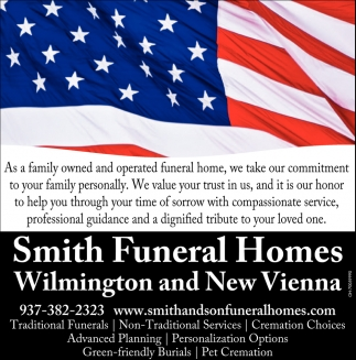 Family owned operated funeral home