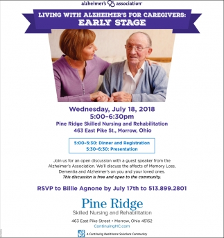 Living with Alzheimer's for caregivers: Early Stage