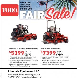 Toro Fair Sale