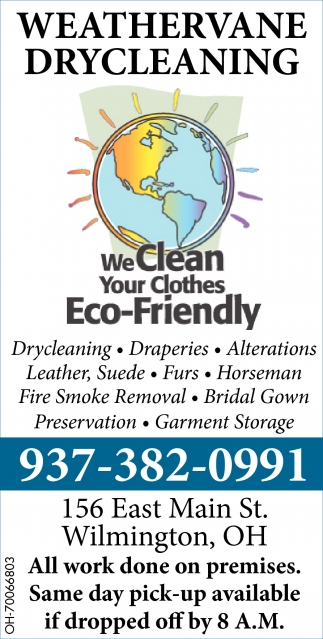 We Clean Your Clothes Eco-Friendly