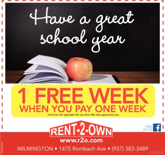 1 Free Week, when you pay one week